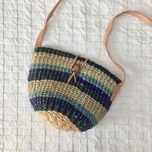 UO Vintage Sisal Bolga Woven Shoulder Bag